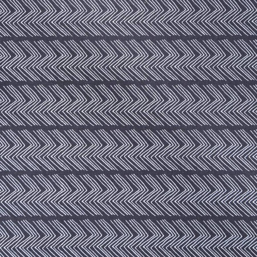 Nappe gris-noir à motifs de zigzags - Photo 1