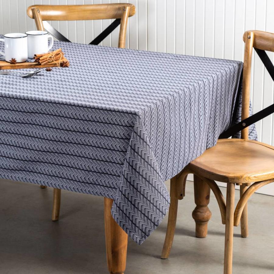 Nappe gris-noir à motifs de zigzags - Photo 0