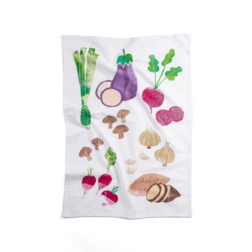 Fall Vegetables Tea Towel