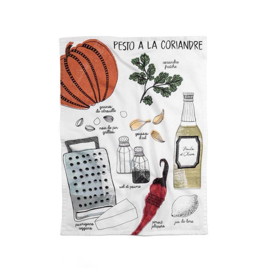 Linge « Pesto à la coriandre » - Photo 0