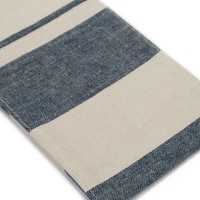 Chambray Utensil Pockets with Large Blue Stripes