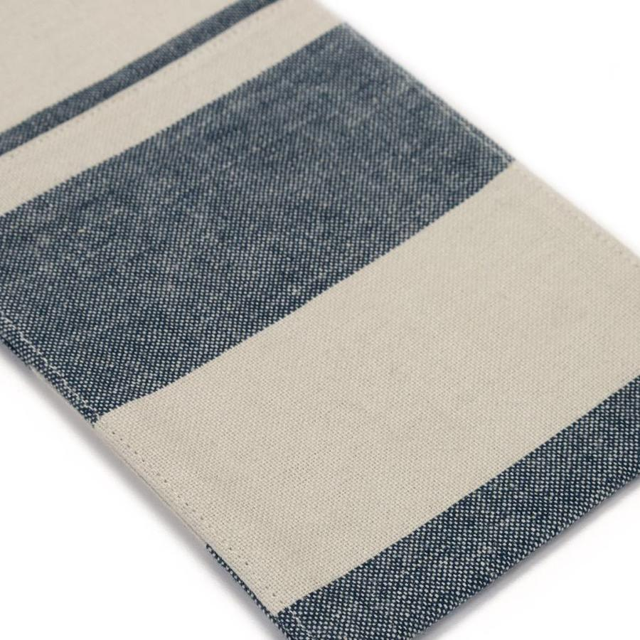 Chambray Utensil Pockets with Large Blue Stripes - Photo 1