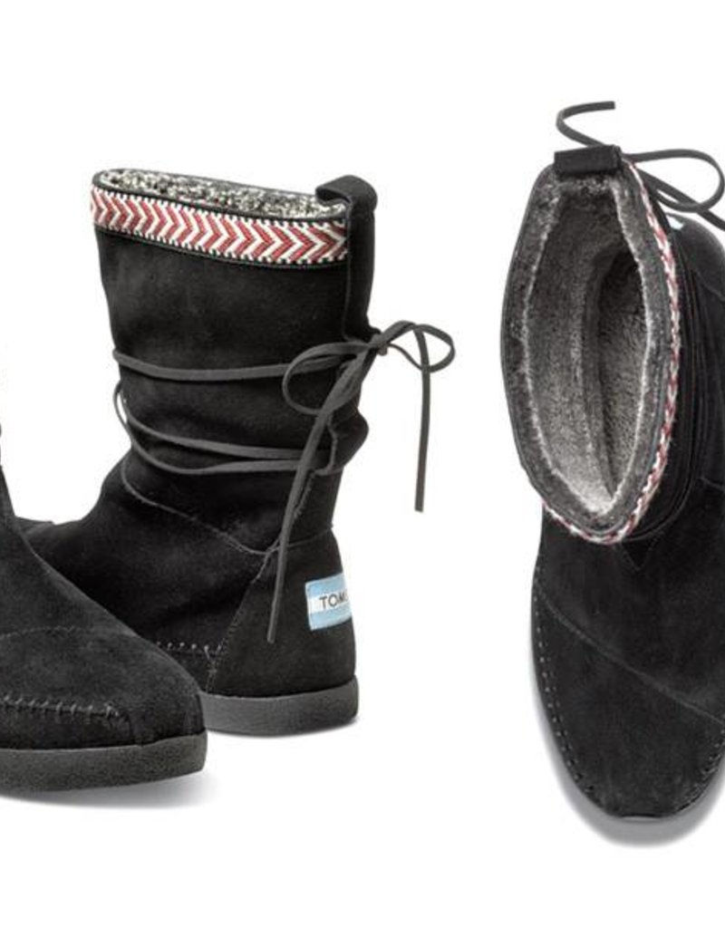 BLACK SUEDE TRIM NEPL BOOT
