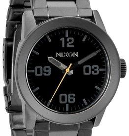 NIXON WATCHES PRIVATE SS: ALL GUNMETAL/BLACK