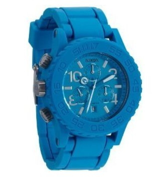NIXON WATCHES RUBBER 42-20 CHRONO: SKY BLUE
