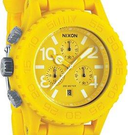 NIXON WATCHES RUBBER 42-20 CHRONO YELLOW