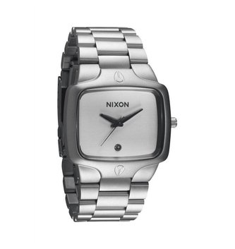 NIXON WATCHES PLAYER: SANDED STEEL/WHITE