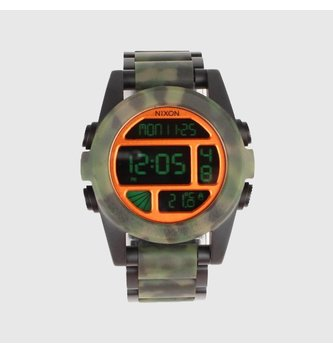 NIXON WATCHES UNIT SS: MATTE BLACK/CAMO
