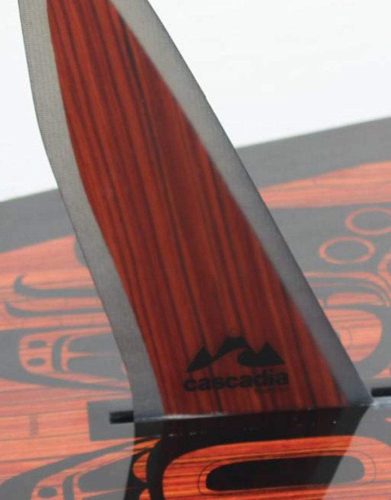 CASCADIA SUP FIN WOOD GRAIN TOURING