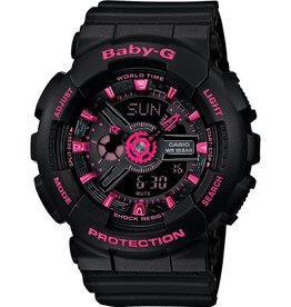 GSHOCK WATCHES GS-BA111-1A Street Neon Color Theme Black Pink