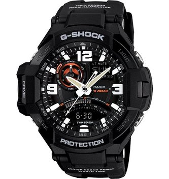 GSHOCK WATCHES GS-GA1000-1A AVIATION TWIN SENSOR - BLACK