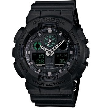 GSHOCK WATCHES GS-GA100MB-1A Big case series basic black
