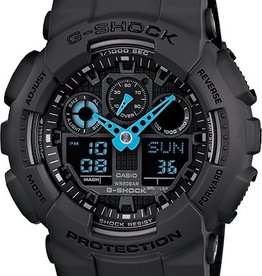 GSHOCK WATCHES GS-GA100C-8A GA100 Neon Highlights Blue