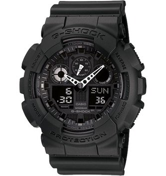 GSHOCK WATCHES GS-GA100-1A1 X-Large G. Black resin band with black Ana-Digi face