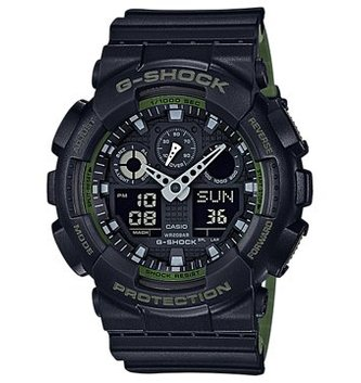 GSHOCK WATCHES GS-GA100L-1A GA100 COLOUR ADDITION BLK
