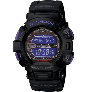 GSHOCK WATCHES MASTER OF G, TOUGH, BLACK AND PURPLE GS-G9000BP-1