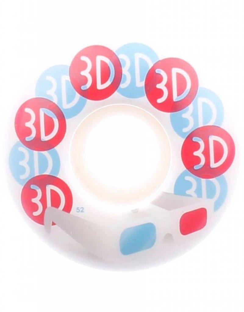 3D WHEELS GLASSES 52MM