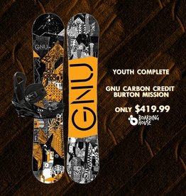 GNU SNOWBOARDS 131 SMALLS CARBON CREDIT W/ PHENOM