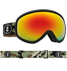 ELECTRIC MASHER GOGGLE: CAMO+BL BROSE/RED CHROME