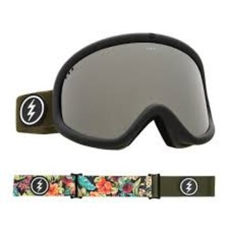 ELECTRIC EGV GOGGLE: DARK TOURIST+BL BROSE/SILVER CHROME
