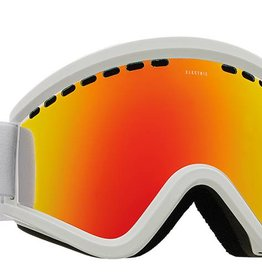 ELECTRIC EGV GOGGLE: GLOSS WHITE+BL BROSE/RED CHROME
