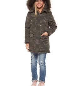 DEX JEANS COLOR FUR LINED PARKA