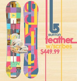 BURTON SNOWBOARDS FEATHER WITH SCRIBE