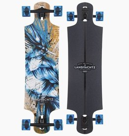LANDYACHTZ LONGBOARDS Maple Drop Hammer Blue Jay Complete