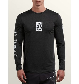 VOLCOM LIDO PIXEL HEATHER LONG SLEEVE RASHGUARD