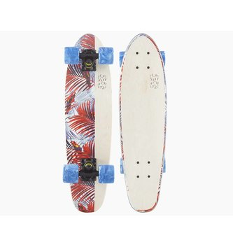 "LANDYACHTZ LONGBOARDS Mini Dinghy 26"" Floral White Complete"
