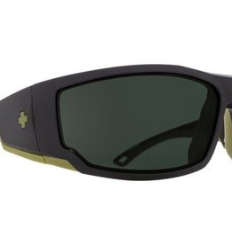 SPY OPTICS POLARIZED TACKLE MATTE BLACK-HAPPY GREY GREEN