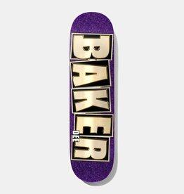 BAKER SKATEBOARDS DO Brand Name Glitter Pur  Deck (8.25)