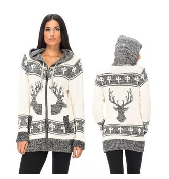 Red Dragon Apparel RDS WOMENS ZIP SWEATER ELK