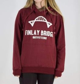 FINLAY BRIDGE OUTFITTERS FB WINE RED HOODIE