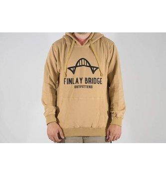 FINLAY BRIDGE OUTFITTERS FINLAY BRIDGE OUTFITTERS KHAKI HOODIE UNISEX