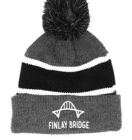 FINLAY BRIDGE OUTFITTERS FBO Grey Pom-Pom Toque
