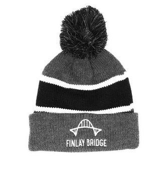 FINLAY BRIDGE OUTFITTERS FBO Grey Pom-Pom Toque
