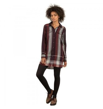 VOLCOM WELL PLAID DRESS