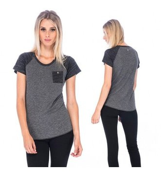 Red Dragon Apparel RDS WOMENS S/S HENLEY SAMANTHA