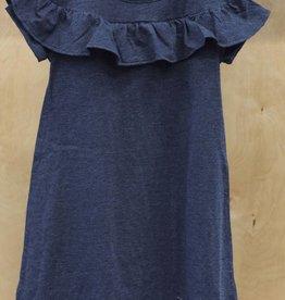 DEX JEANS RUFFLE DETAILED KNIT DRESS