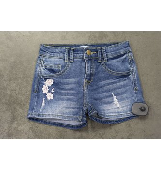 DEX JEANS EMBROIDERED DENIM SHORTS