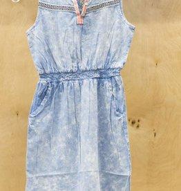 DEX JEANS SLV/LESS WAIST ELASTIC DRESS