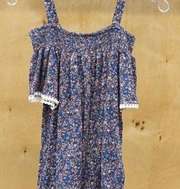 DEX JEANS COLD SHOULDER PRINTED DRESS