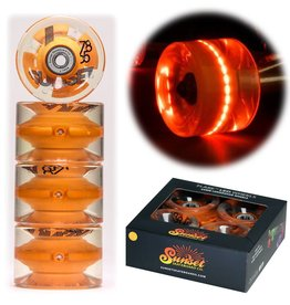 SUNSET WHLS. SUNSET LONGBOARD WHEELS ABEC7 65MM ORNG.
