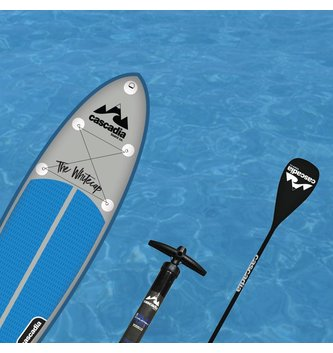 CASCADIA SUP 10' WHITECAP W/ 3pc CARBON PADDLE