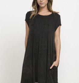 RVCA PUNCH OUT T-SHIRT DRESS WJD10PUN