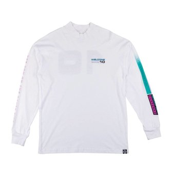 WELCOME WELCOME L/S TEE MOCK NECK SPACE RACE WHT L