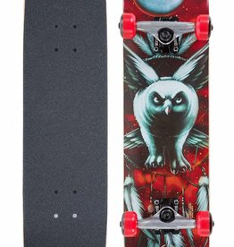 DARKSTAR SKATEBOARDS DARKSTAR NIGHT OWL YOUTH MID RED COMPLETE 7.375