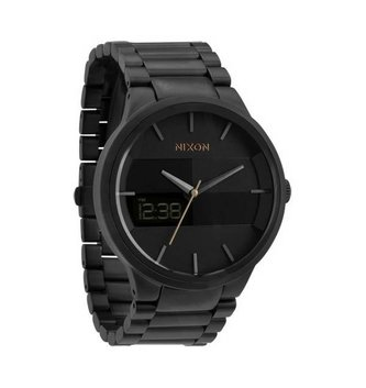 NIXON WATCHES SPENCER: ALL GUNMETAL/BLACK