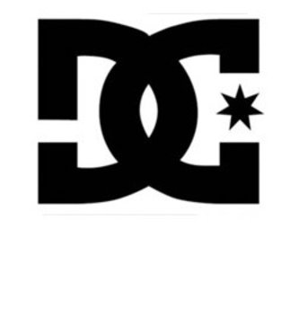 DC FOOTWEAR DC STICKERS LARGE